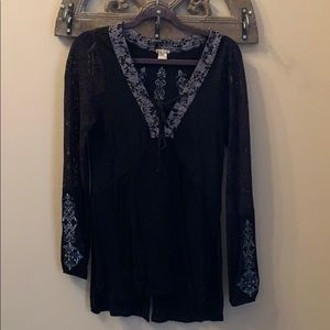 Black long sleeve blouse from Buckle